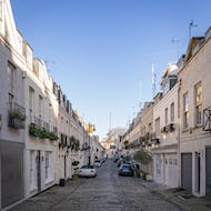 A view of Eaton Mews in Belgravia