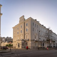 Residential building on Chesham Place, Belgravia