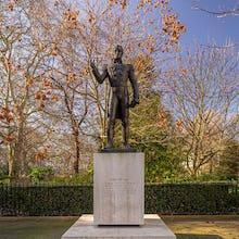 Simon Bolivar statue in Belgrave Square Garden