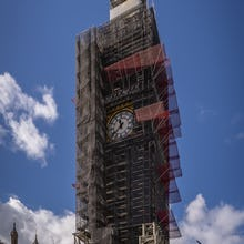 Big Ben (Elizabeth Tower) under renovation until 2021