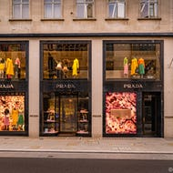 Prada store on Old Bond Street