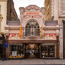 The Royal Arcade is a the oldest purpose build shopping arcade in London