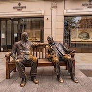 Churchill and Roosevelt Allies Sculpture on New Bond Street