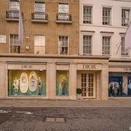 Dior store on New Bond Street