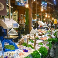 Borough Market also has fresh seafood available