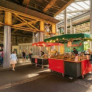 Lovely cakes and desserts at the Borough Market