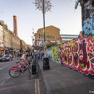 Graffiti is an integral part of Brick Lane views