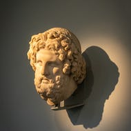 A Greek statue at the British Museum