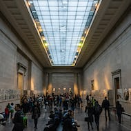 A hall with Greek statues from Parthenon