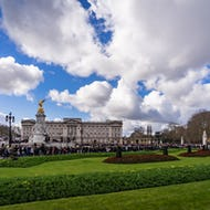 Buckingham Palace during a ceremony