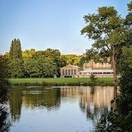 Buckingham Palace as seen from the Garden