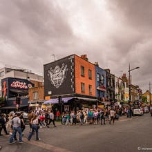 Saturday crowds in Camden Town