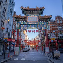 The Chinatown Gate at dawn
