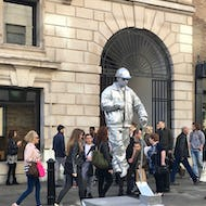 Human statue at Covent Garden