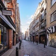 Shopping street next street up from Covent Garden