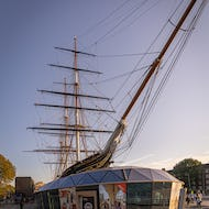Cutty Sark from below the bowsprit