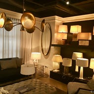 Lamps and furniture at the Design Centre