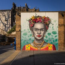 Frida Kahlo mural at Eccleston Yards