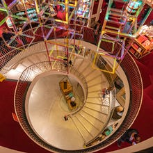 Spiral staircase at Fortnum & Mason