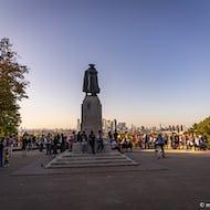 People gathering to enjoy the views