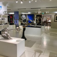 A section with art and sculpture at Harrods