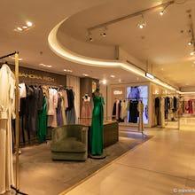 Designer dresses at Harrods