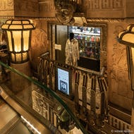 Designer clothing shown next to the Egyptian Stairs