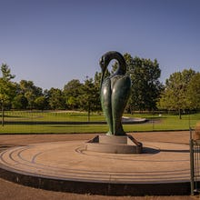 Serenity is an imposing bronze sculpture near the Diana Memorial Fountain