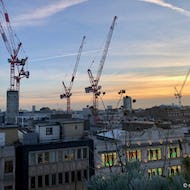 View from the roof garden of John Lewis, Oxford Street