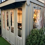 A hideout cottage at the roof garden of John Lewis