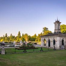 A view of the Italian Gardens in Kensington Gardens
