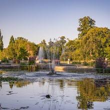 A fountain in the Italian Gardens