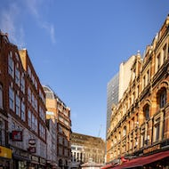 A view towards the Leicester Square early in the morning