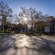 Early morning view of the Leicester Square
