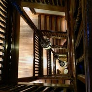 Wooden staircase at Liberty