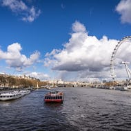 Thames view with London Eye