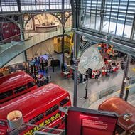 London Transport Museum with double-deckers