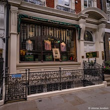 Mens clothing store on Savile Row