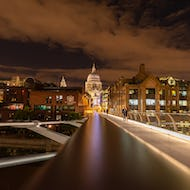St Paul's Cathedral at night provides a romantic backdrop