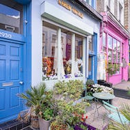 Beautiful colourful houses in Notting Hill