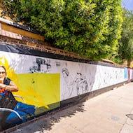 Long piece of street art in Notting Hill