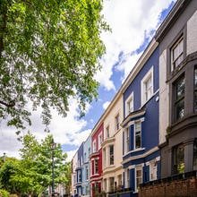 Colourful houses in Notting Hill