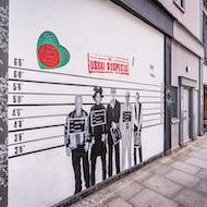 The Usual Suspects mural on Portobello Road