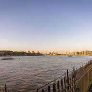 The Thames between Old Royal Naval College and Isle of Dogs