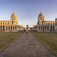 Old Royal Naval College towards Greenwich Park