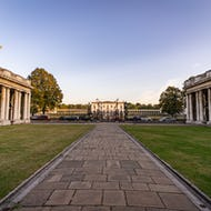 View towards the Greenwich Park and the Queen's House