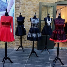 Dresses outside of a store in Old Spitalfields Market