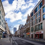 Oxford Street stores early in the morning