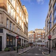 A side street of Oxford Street
