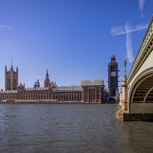View of Westminster Palace taken next to Westminster Bridge